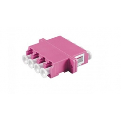 LC OM4 Fiber Optic OM4 Adapter , Fiber Optic OM4 Lc Adapter IL 0.2dB Multimode