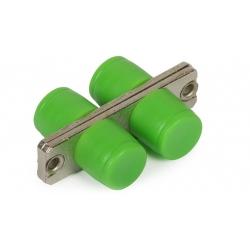 FC / APC Singlemode Fiber Optic Adapter Ceramic Or Bronze Sleeve RoHS Compliant