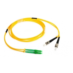 LC APC / ST Fiber Optic Patch Cord Single mode Telcordia GR-326-CORE