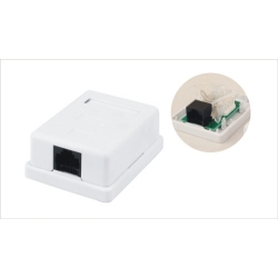Surface Mount Box with Jacks Single Port RJ45