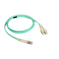 SC Duplex OM3 Fiber Optic Patch Cord , Armoured Fiber Patch Cord