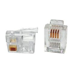 RJ11 Modular Plug 6P4C Flat Cable
