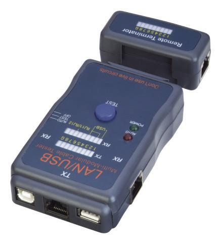 RJ45 Modular Cable Tester Auto Scan Test Mode