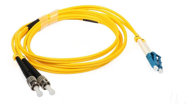 ST To LC Fiber Optic Patch Cord , Singlemode 9 Optical Fiber Patch Cord