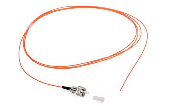 FC E2000/MU Multimode Fiber Optic Pigtails Yellow PVC LSZH Cable