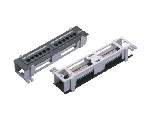1U 10inch 12port Patch Panel with Frame Cat5e and Cat6 type