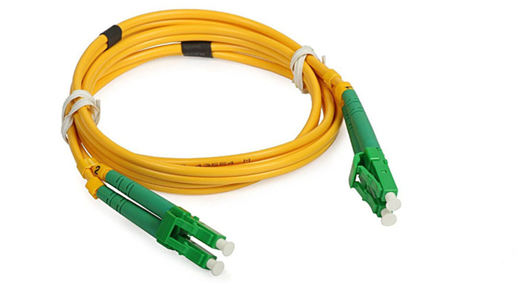 LC / APC SM Fiber Optic Patch Cord 1M Insertion Loss 0.2dB 50UM / 125UM
