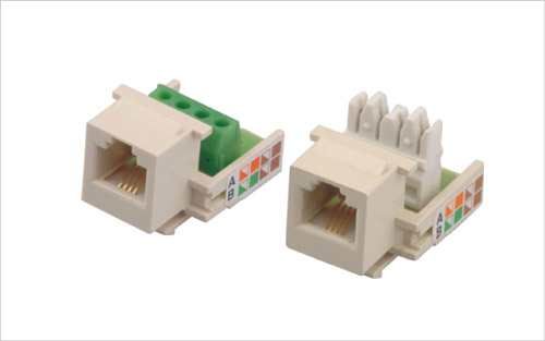 Cat.3 6P4C Keystone Jack with Terminal Block