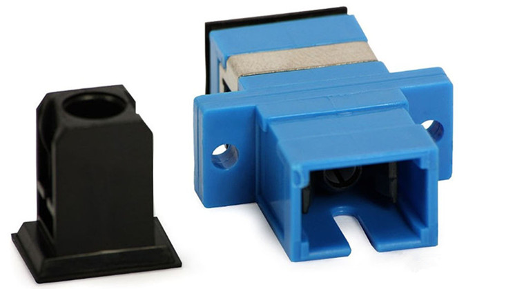 Square SX SM Optical Adapter IEC Standard with zinc alloy and plastic housing
