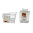 RJ11 Modular Plug 6P4C For Solid Cable