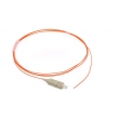 SC Multimode Fiber Optic Patch Cord , SC Fiber Optic Pigtails Low Insertion Loss
