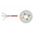 Cat6a SFTP Cable, Transmission Shielded Cat6a Cable , Copper Braiding Network