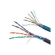 CAT5E FTP Cable, PVC + PE Jacket  , Waterproof 24AWG 2 Pair Shielded Cable